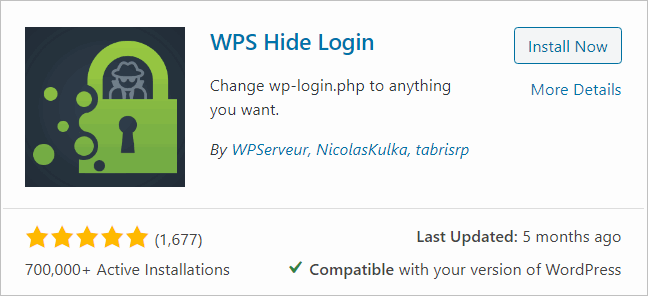 Install the WPS Hide Login plugin to hide the URL