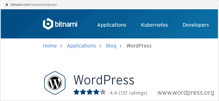 how to install WordPress locally with Bitnami