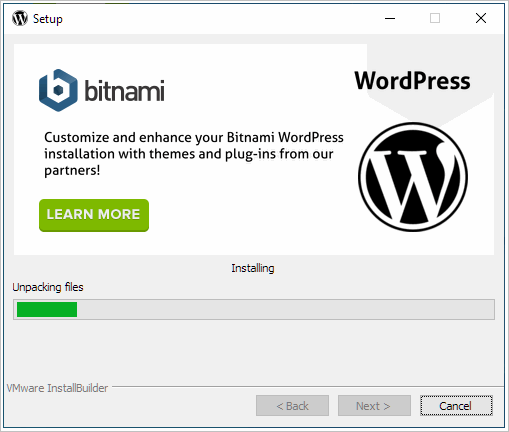 bitnami WordPress install
