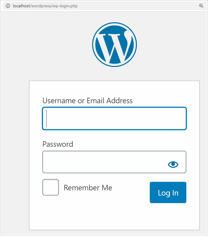 WordPress login details