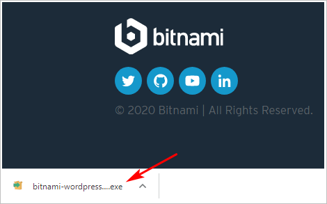 bitnami exe folder