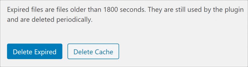 delete cache WordPress