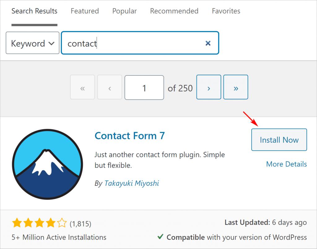 Plugin Install from Admin