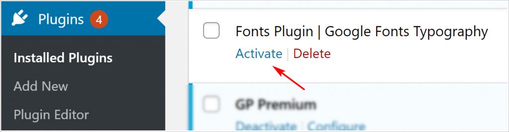 WordPress plugin installation via ftp