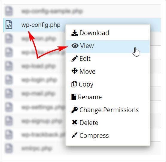 WordPress backup wp-config.php