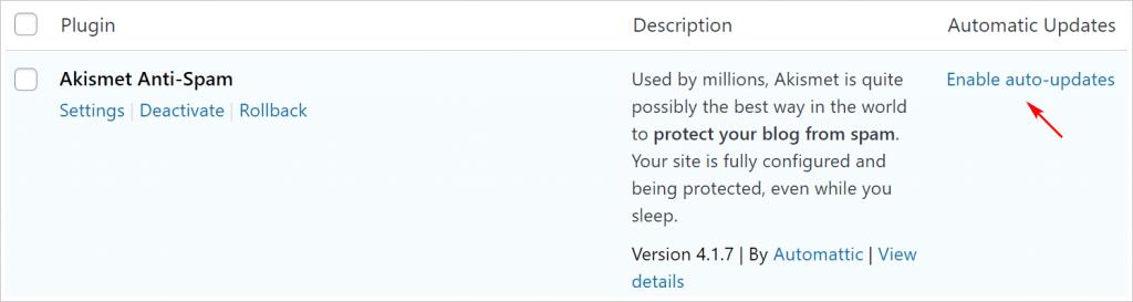 WordPress enable plugin auto update