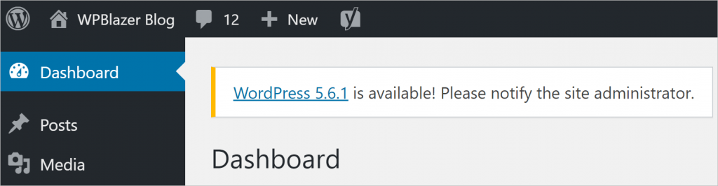 WordPress update new version