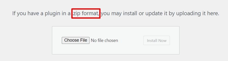 Plugin Installation Zip Upload