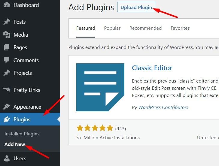 Upload WP Plugin