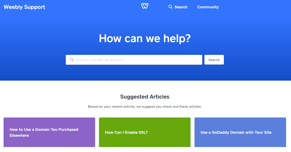 Weebly Support