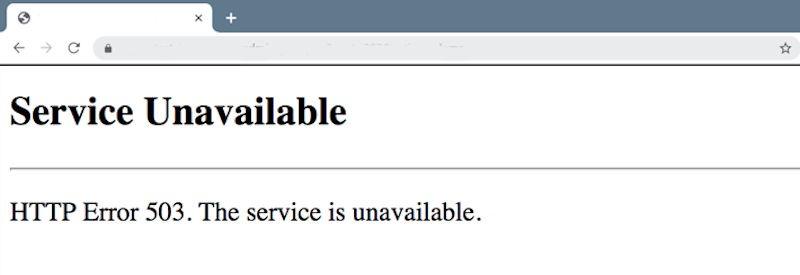 HTTP 503 Error
