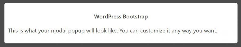 WordPress Bootstrap Modal