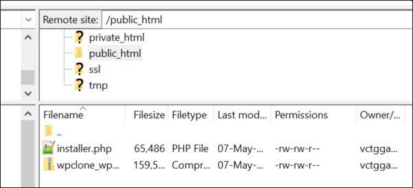 A screenshot of sample server catalogues