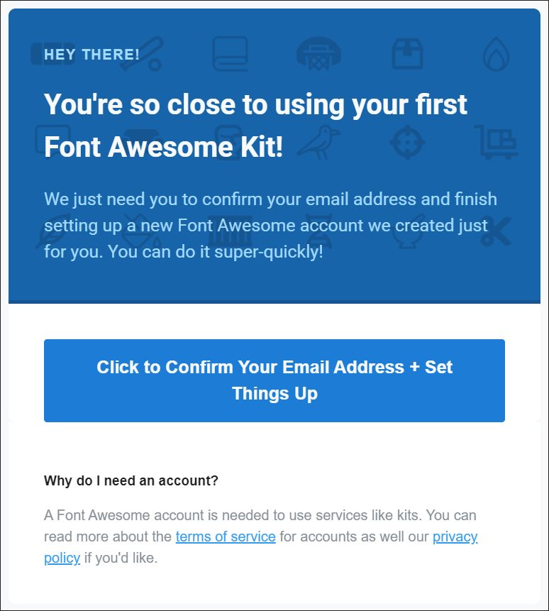 Font Awesome thank-you page