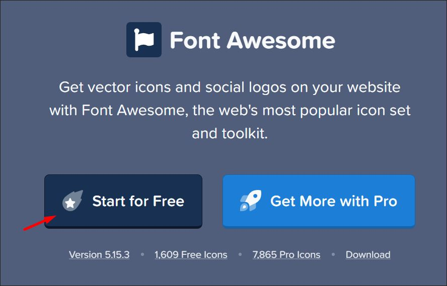Font Awesome Homepage CTA