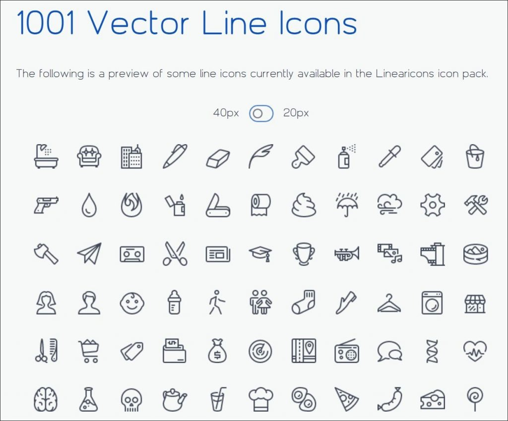 Sample Linearicons Icons