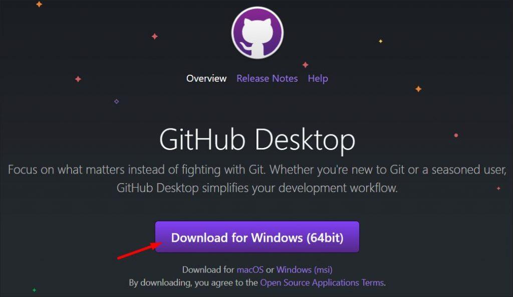 GitHub desktop app homepage