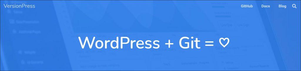 VersionPress plugin homepage