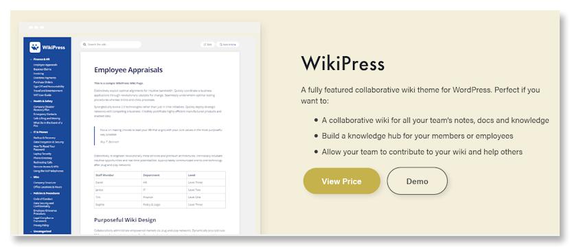 WikiPress WP Wiki Theme