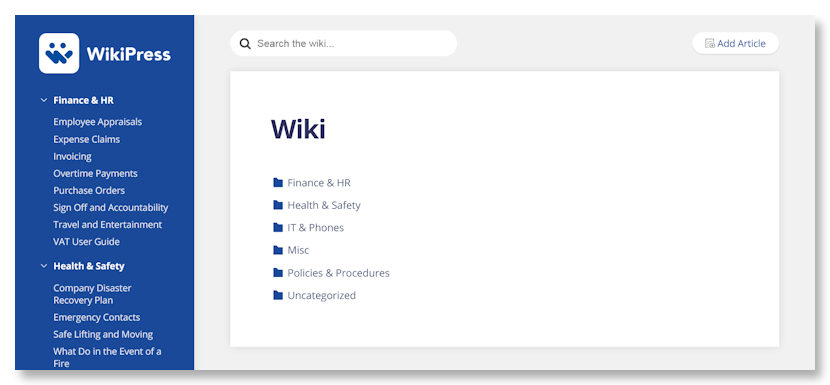 WikiPress Demo