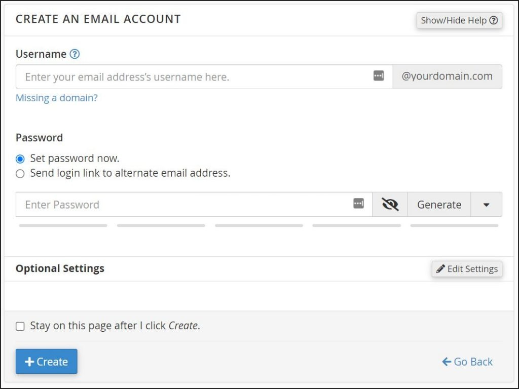 A screenshot of detailed email settings.