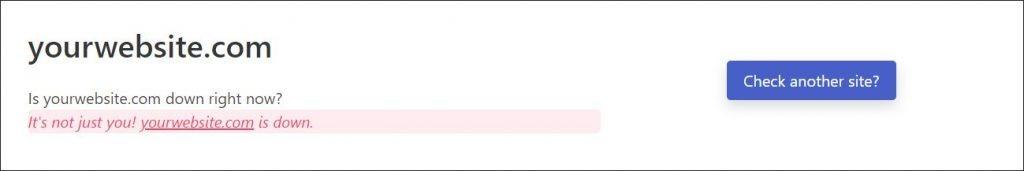 Checking if WordPress Internal Server Error persists using Down for Everyone