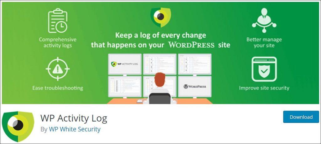 WordPress WP Activity Log plugin landing page