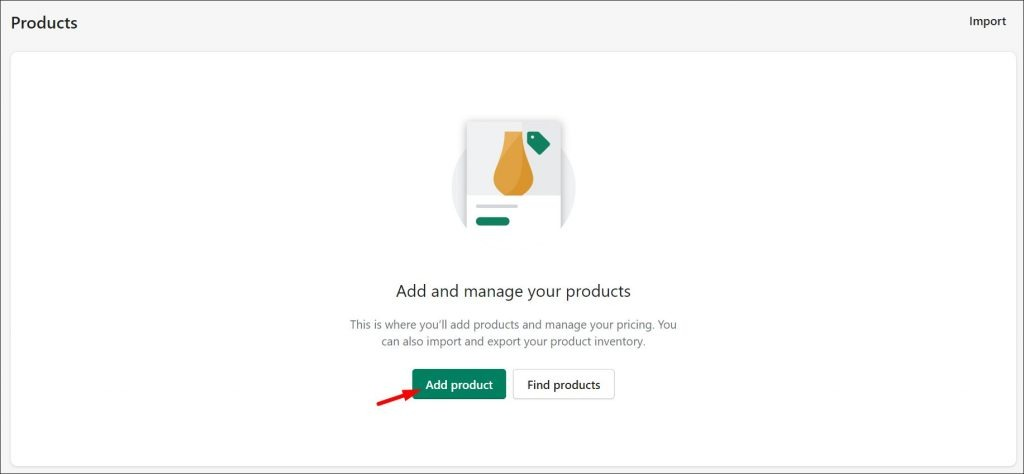 The first step of a WordPress Shopify Integration - adding a new product