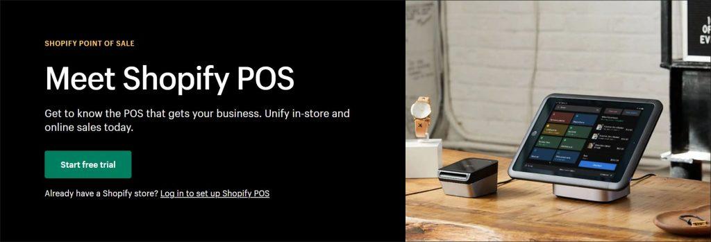 A screenshot of Shopify mPoS website