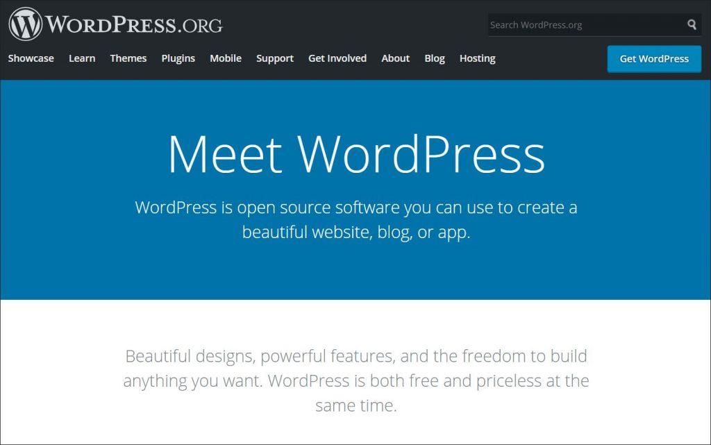 A screenshot of WordPress.org website